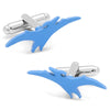 Light Blue Pterodactylus Cufflinks-Cufflinks-Here Comes The Bling‰̣ۡå¢