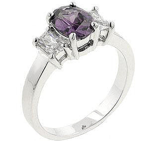Lilac Engagement Ring-Rings-Here Comes The Bling™