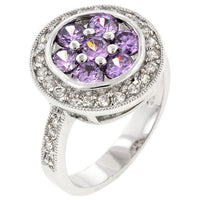 Lily Amethyst Purple Ring-Rings-Here Comes The Bling™