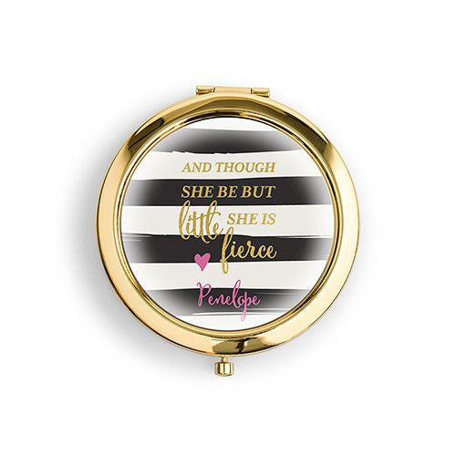 """Little But Fierce"" Compact Mirror-Mirrors-Here Comes The Bling™"