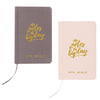"""Little Notes"" Gold Embossed Linen Journal-Journals-Here Comes The Bling™"