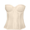 Long Bridal Torsolette Bra in Ivory (Available in extended Sizes)-Bra-Here Comes The Bling™