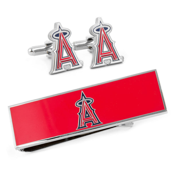 Los Angeles Angels Cufflinks and Money Clip Gift Set-Mens 3 Piece Gift Set-Here Comes The Bling™
