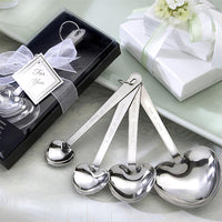 """Love Beyond Measure"" Heart-Shaped Measuring Spoons in Gift Box-Favors-Kitchen Tools-Here Comes The Bling™"