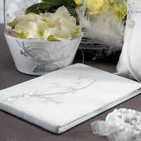 Love Bird in Classic White Guest Book-Guest Books-Here Comes The Bling™