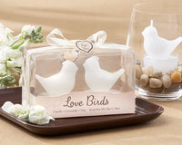 """Love Birds"" White Bird Tea Light Candles-Favors-Candle Holders-Here Comes The Bling™"
