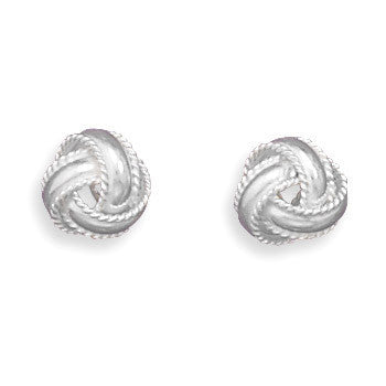 Love Knot Stud Earrings-Earrings-Here Comes The Bling™