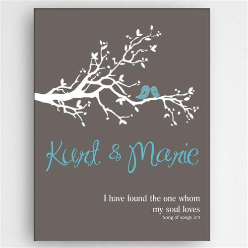 Love & Romance - Birds Canvas Sign-Sign-Here Comes The Bling™