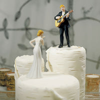 """Love Serenade"" Guitar Playing Groom Cake Topper ( Select From 7 Hair Colors )-Cake Toppers-Here Comes The Bling™"