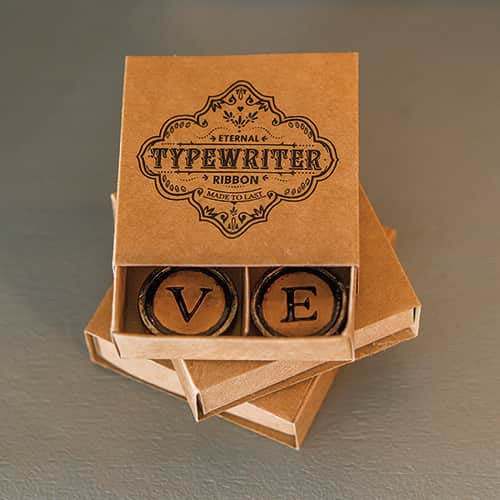 LOVE Vintage Typewriter Key Magnets with Gift Packaging (Pack of 8 magnets)-Favors-Magnets-Here Comes The Bling™