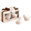 """Lovebirds in the Window"" Ceramic Salt & Pepper Shaker Favors (set of 6)-Favors-S&P-Here Comes The Bling™"