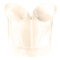 Low-Back Longline Bra in Ivory-Bra-Here Comes The Bling™