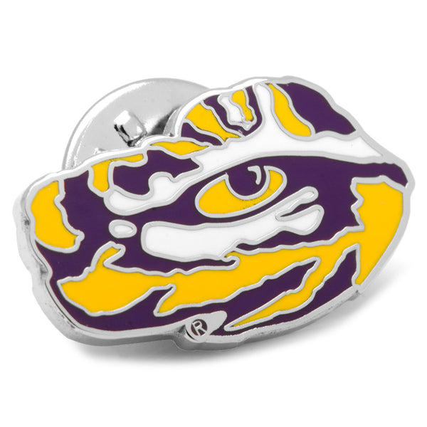 LSU Tiger's Eye Lapel Pin-Lapel Pin-Here Comes The Bling™