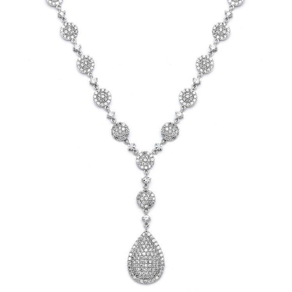 Luxurious Pave CZ Wedding Necklace-Sets-Here Comes The Bling™