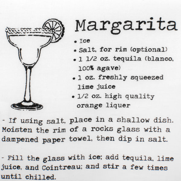Margarita Recipe Pocket Square-Pocket Square-Here Comes The Bling™