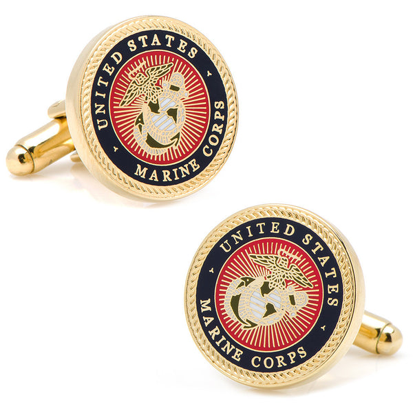 Marine Corps Cufflinks-Cufflinks-Here Comes The Bling䋢