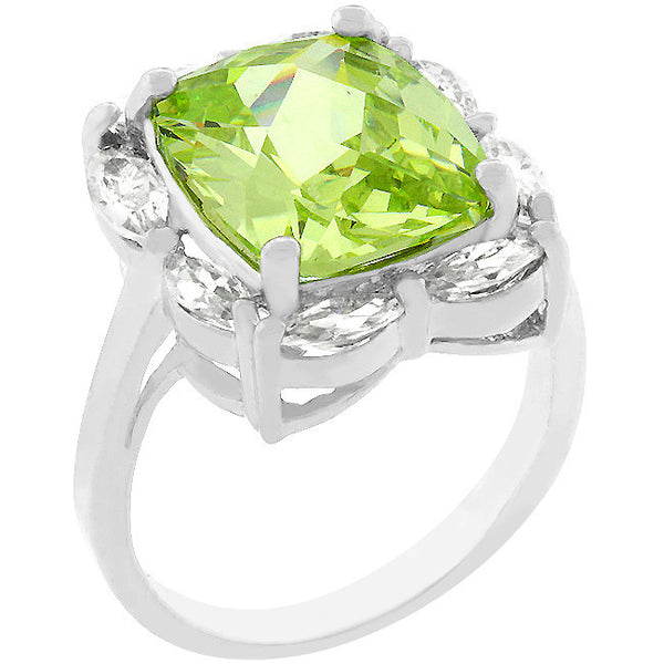Marquise Framed Apple Green Ring-Rings-Here Comes The Bling™