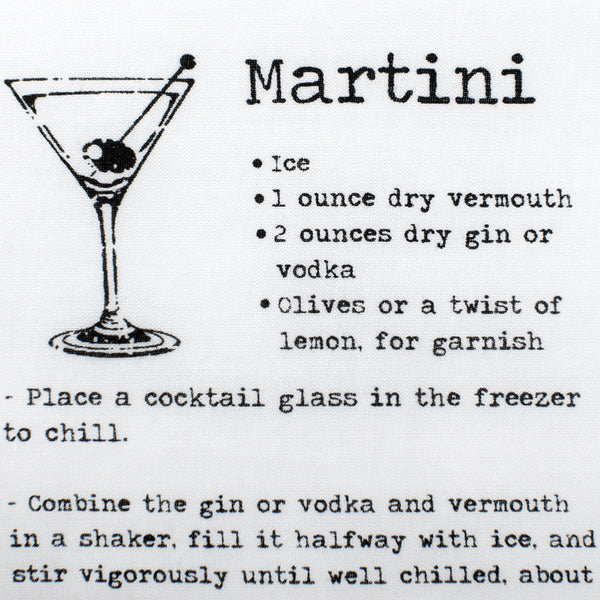 Martini Recipe Pocket Square-Pocket Square-Here Comes The Bling™