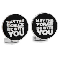May the Force Be With You Cufflinks-Cufflinks-Here Comes The Bling™