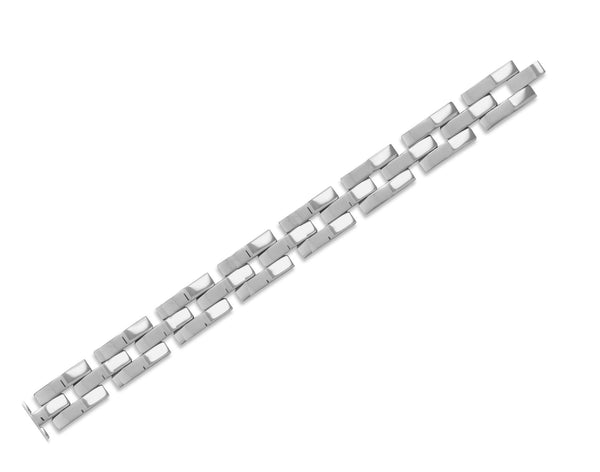 Men's Stainless Steel Link Bracelet-Mens-Bracelets-Here Comes The Bling™