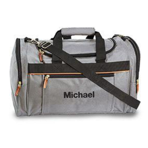 Mens Weekender Bag in Gray-Mens-Bags-Here Comes The Bling™