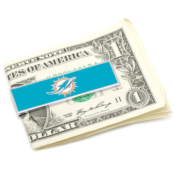 Miami Dolphins Money Clip-Money Clip-Here Comes The Bling™