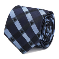 Mickey Mouse Blue Plaid Tie-Tie-Here Comes The Bling™