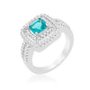 Micro-Pave Aqua Vintage Ring-Rings-Here Comes The Bling™