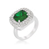 Micropave Green Bridal Cocktail Ring-Rings-Here Comes The Bling™