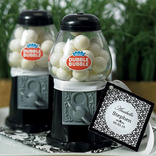 Mini Classic Black Gumball Machine-Favors-Edible-Here Comes The Bling™