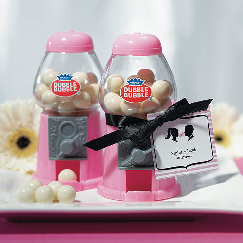 Mini Classic Pink Gumball Machine-Favors-Edible-Here Comes The Bling™