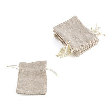 Mini Linen Drawstring Pouch (Pack of 12)-Favors-Bags-Here Comes The Bling™