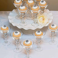 Mini Martini Glasses (Pack of 6)-Shop Trending Wedding Themes-Here Comes The Bling™