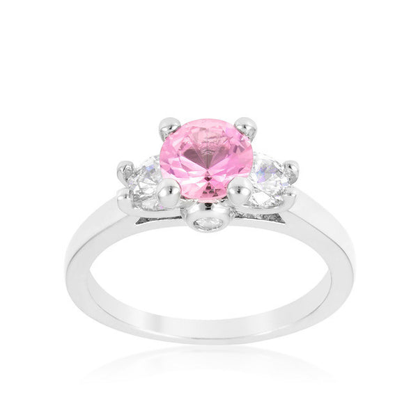 Mini Pink Ice Triplet Ring-Rings-Here Comes The Bling™