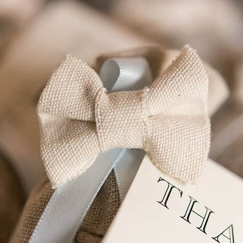 Mini Pre-tied Canvas Bows White (Pack of 4)-Favors-Bows-Here Comes The Bling™