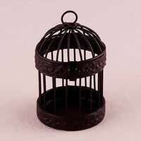 Miniature Classic Round Black Birdcages (Pack of 4)-Favors-Containers-Here Comes The Bling™