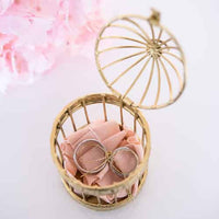 Miniature Classic Round White Birdcages (Pack of 4)-Favors-Containers-Here Comes The Bling™