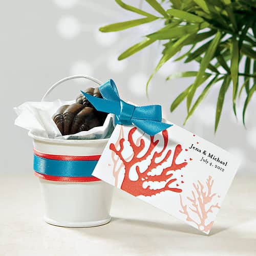 Miniature Metal Pails in Silver or White (Pack of 12)-Favors-Containers-Here Comes The Bling™