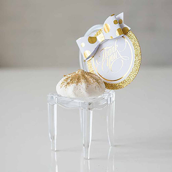 Miniature Phantom Chairs For Table Decorating – Clear Acrylic (Pack of 8)-Place Card Holder-Here Comes The Bling™