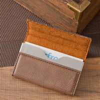 Mocha Microfiber Business Card Case-Mens-Cases-Here Comes The Bling™