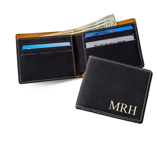 Monogrammed Wallet in Black-Mens-Cases-Here Comes The Bling™