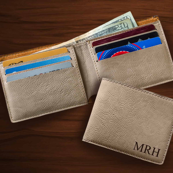 Monogrammed Wallet in Tan-Mens-Cases-Here Comes The Bling™