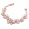 Mosaic Cubic Zirconia Rose Gold Statement Bracelet-Bracelets-Here Comes The Bling™