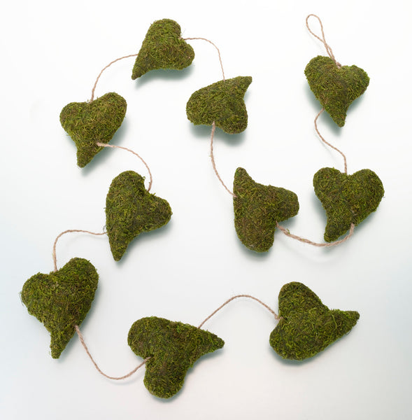 Moss Heart Garland-Decor-Hanging-Here Comes The Bling™