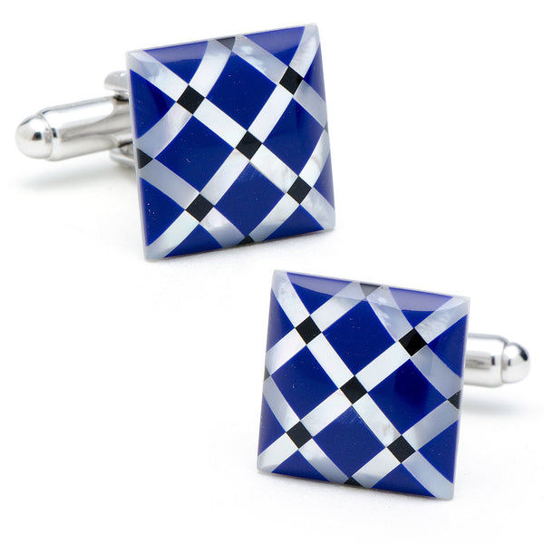 Mother of Pearl Diamond Cufflinks-Cufflinks-Here Comes The Bling™