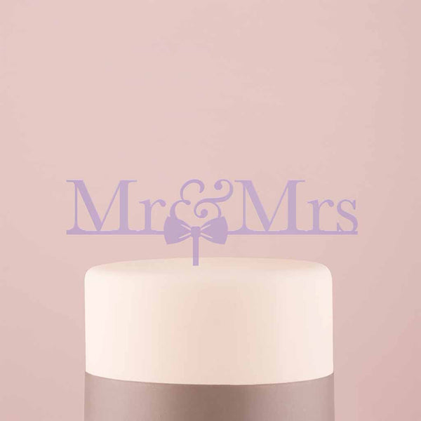 Mr & Mrs Bow Tie Acrylic Cake Topper-Cake Toppers-Here Comes The Bling™