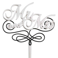 Mr. & Mrs. Cake Pick-Cake Toppers-Here Comes The Bling™