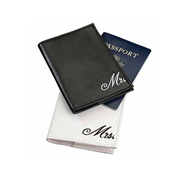 Mr. & Mrs. Passport Covers-Passport Covers-Here Comes The Bling™