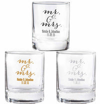 """Mr. & Mrs."" Shot Glass - Votive Holder-Shot Glass-Here Comes The Bling™"
