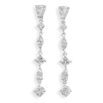 Multi Shape CZ Post Earrings-Earrings-Here Comes The Bling™